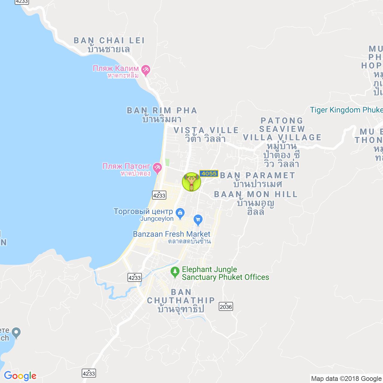 Phuket Gym Patong на карте Пхукета