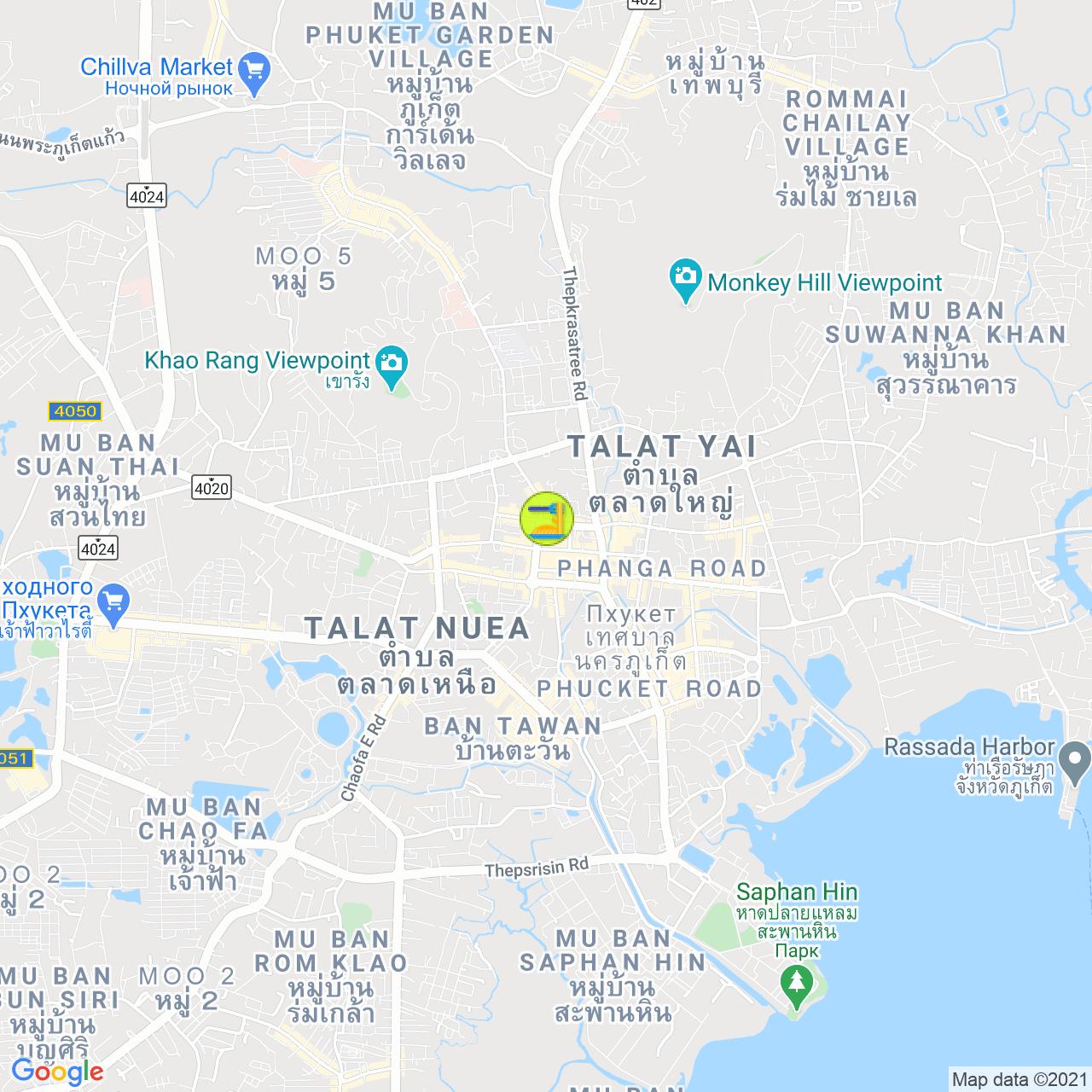 🐗 Hog's Head Phuket на карте Пхукета