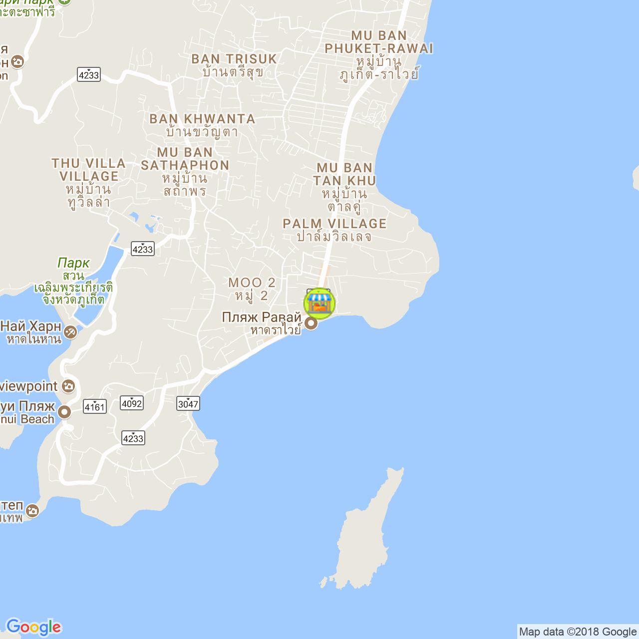 Рынок морских цыган на карте Пхукета