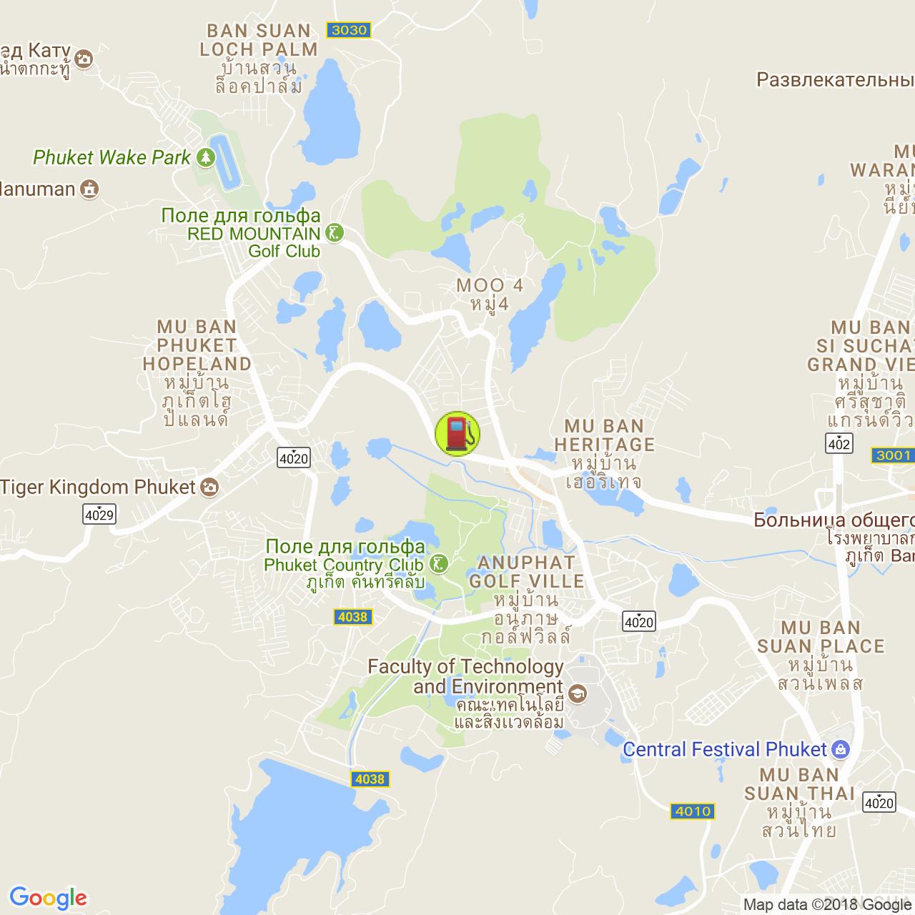 Заправка Листик @ Кату на карте Пхукета