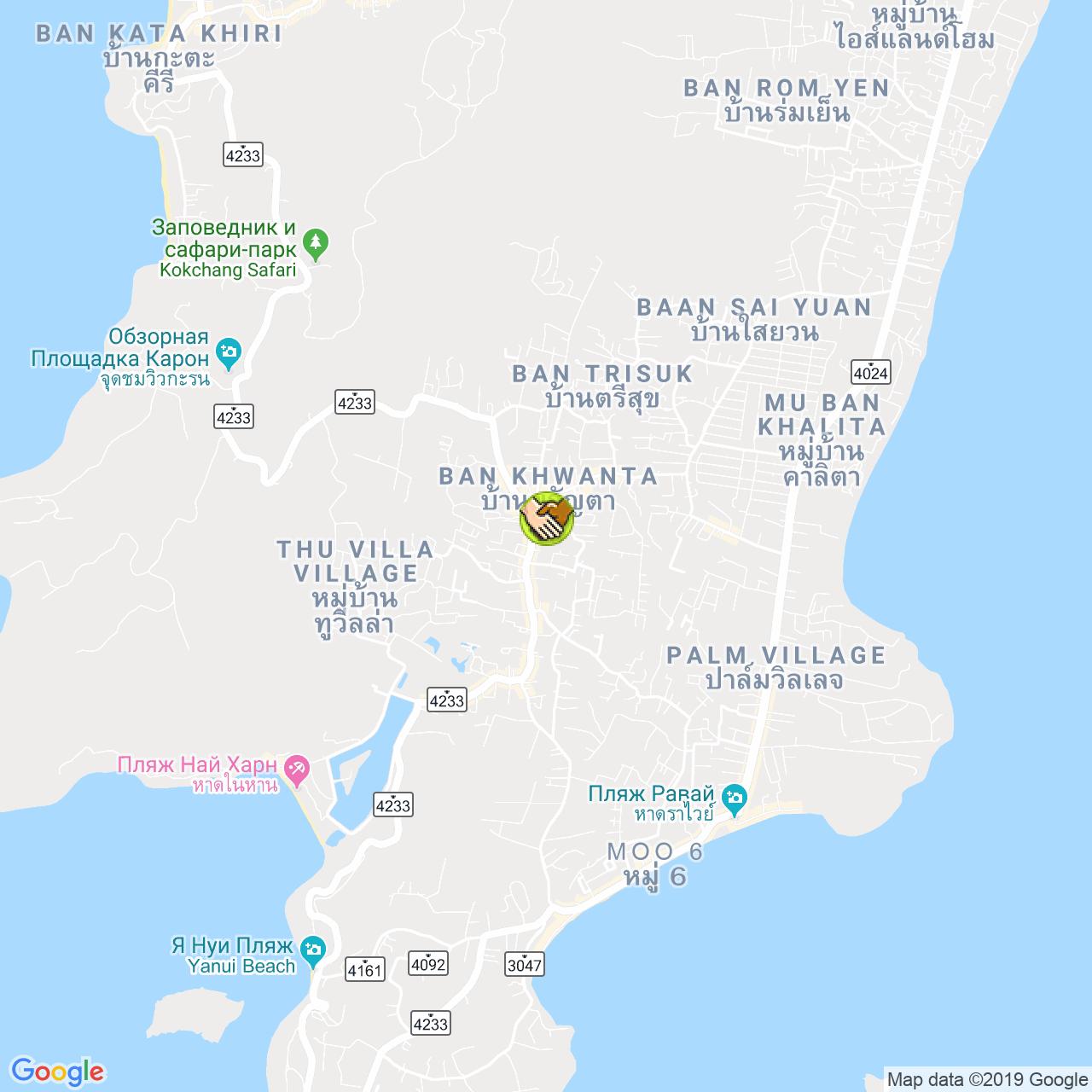 Jungala Phuket на карте Пхукета