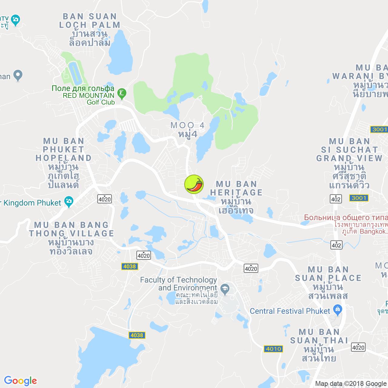 Alena Restaurant на карте Пхукета