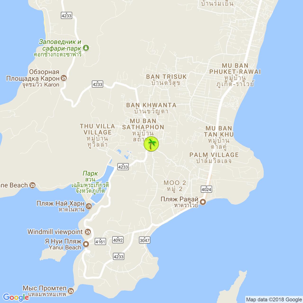 Баня Pakpon Relax на карте Пхукета