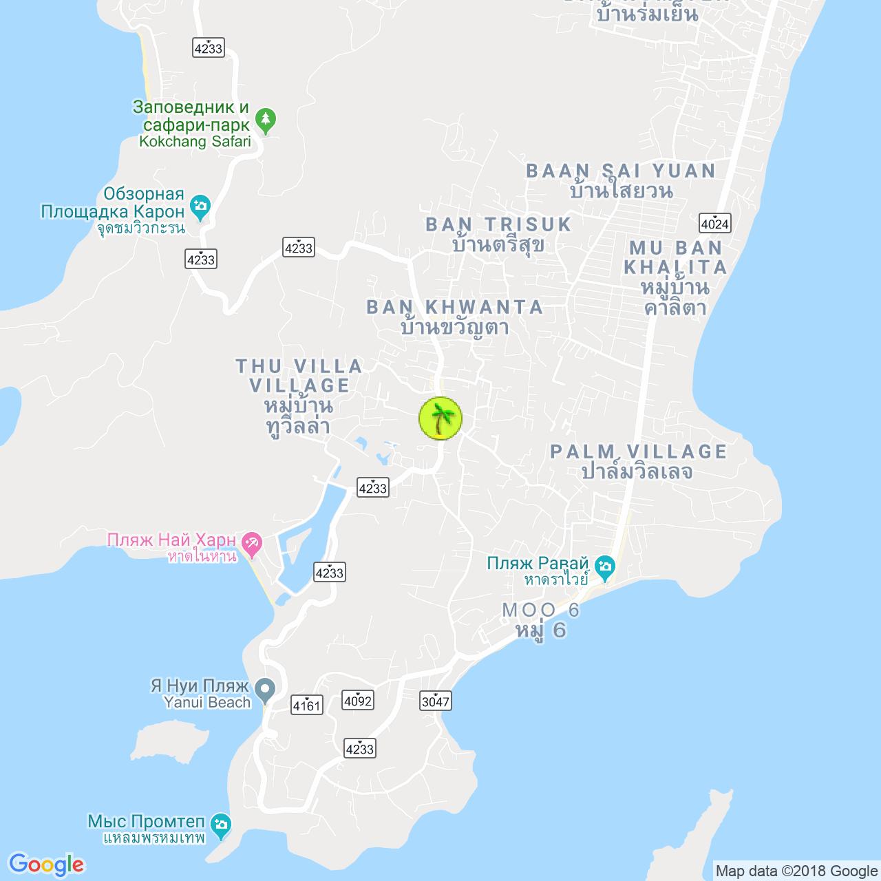 Doo Cat Cafe на карте Пхукета