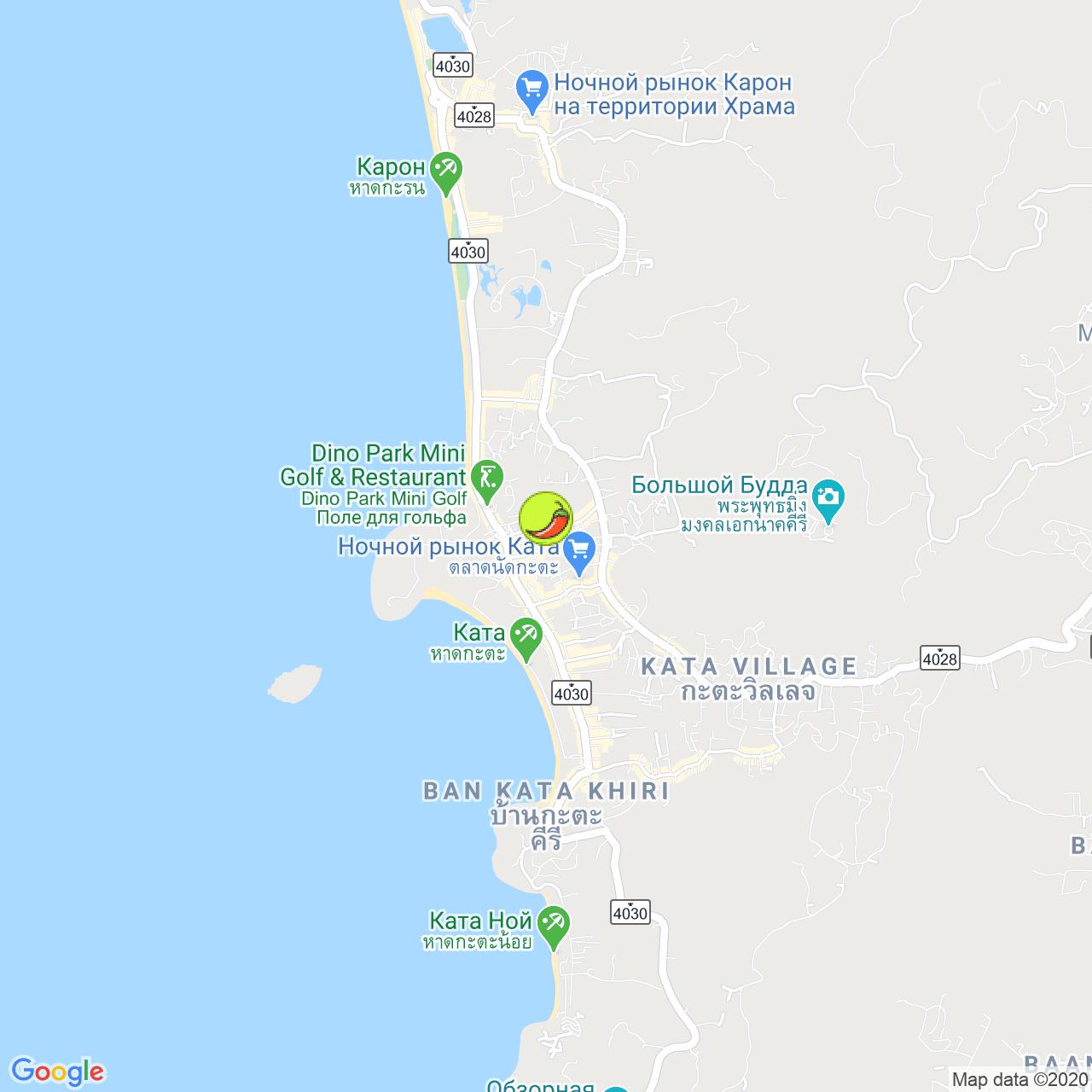 Kwong Shop Seafood Restaurant на карте Пхукета