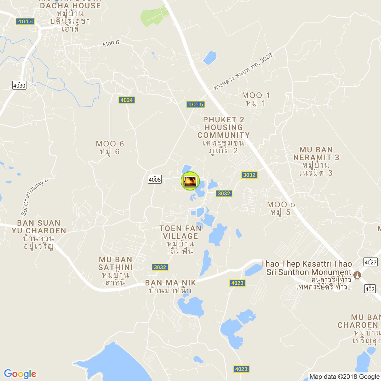 Парк с рыбами на карте Пхукета