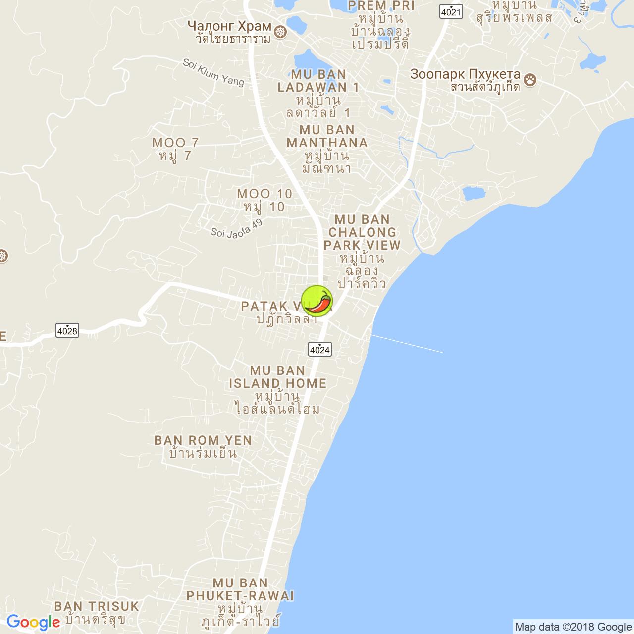 Isan Khon Khok на карте Пхукета