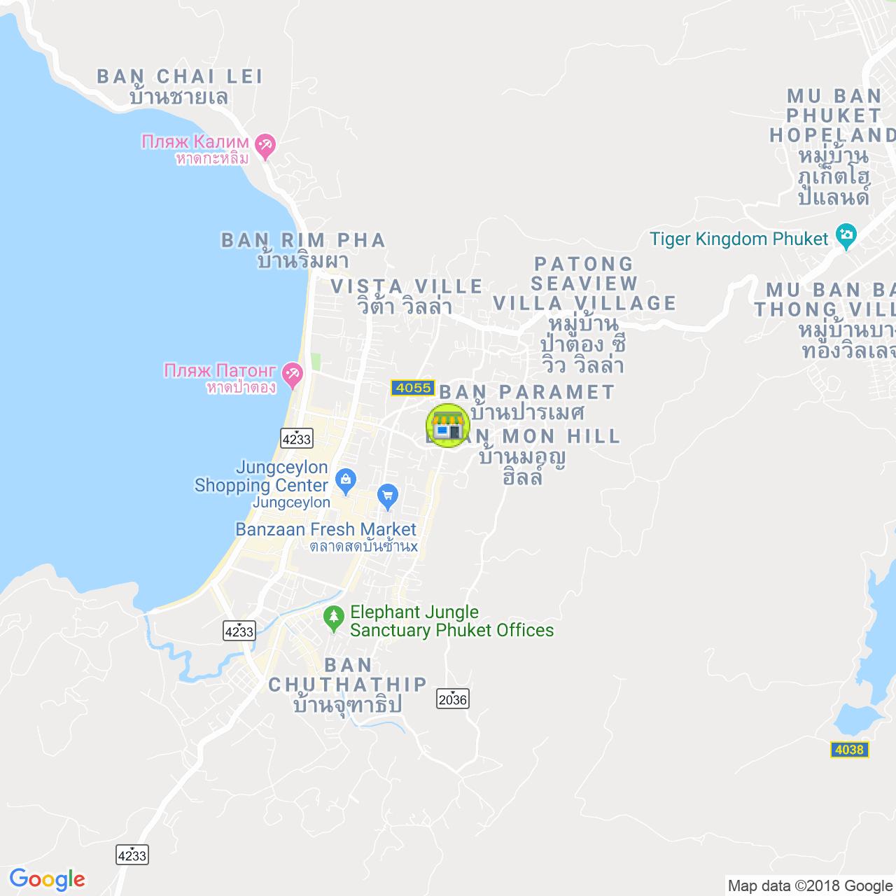 Цветочный магазин на Патонге на карте Пхукета