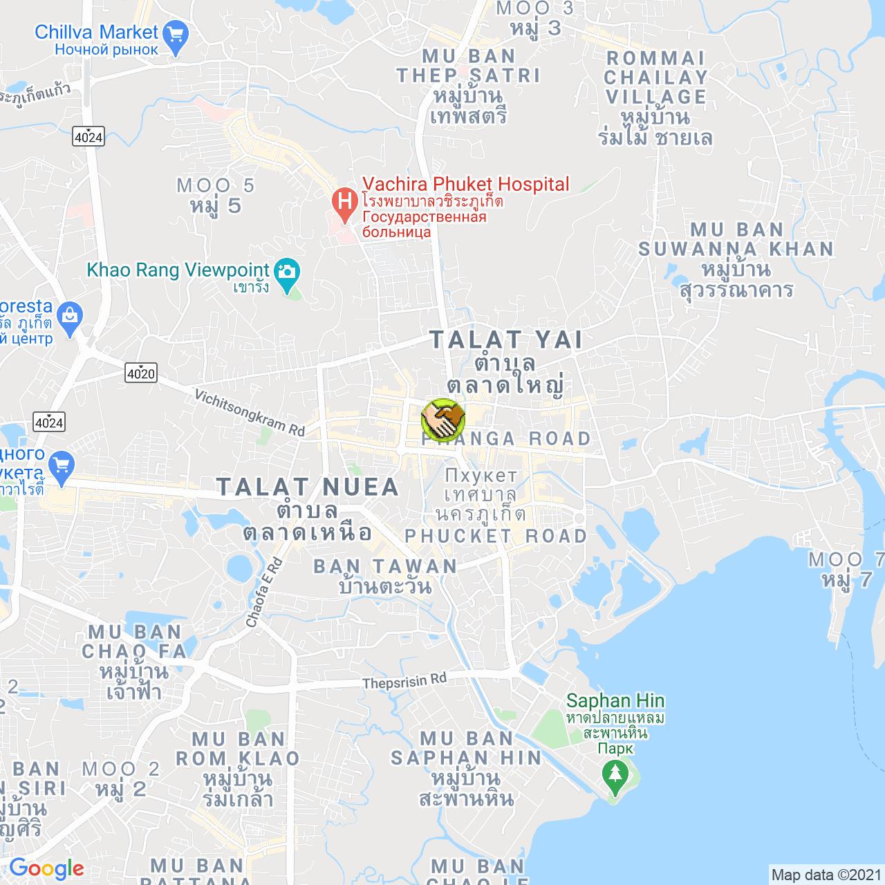 Mone Studio Phuket на карте Пхукета