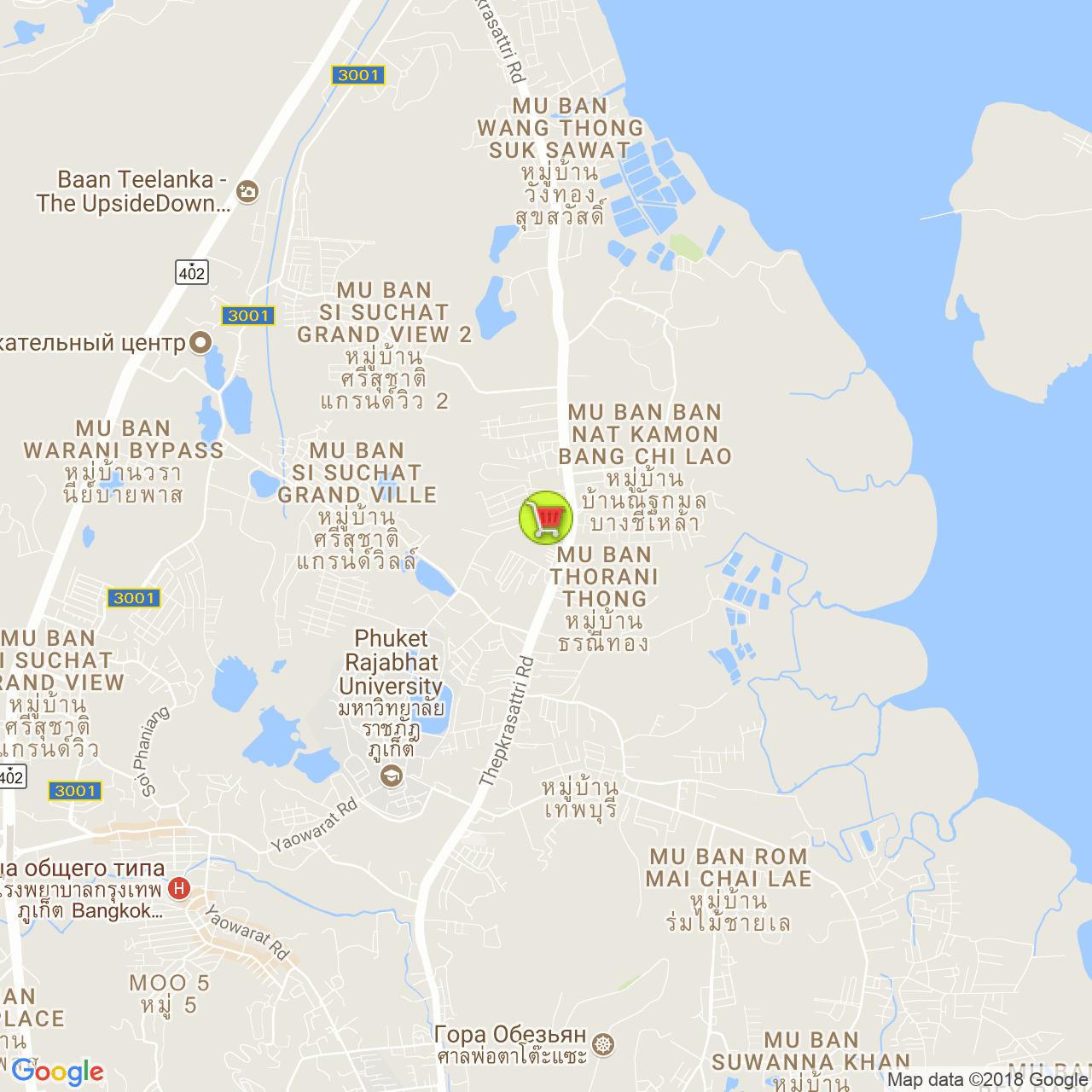 Основной Super Cheap @ Таланг на карте Пхукета