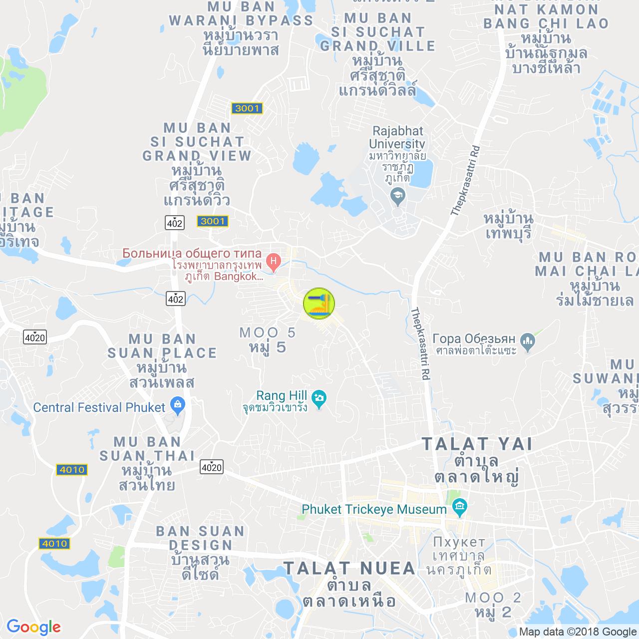 WeCafe в Пхукет тауне на карте Пхукета
