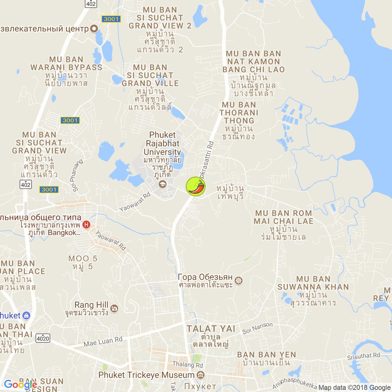 Waan Jai Restaurant на карте Пхукета