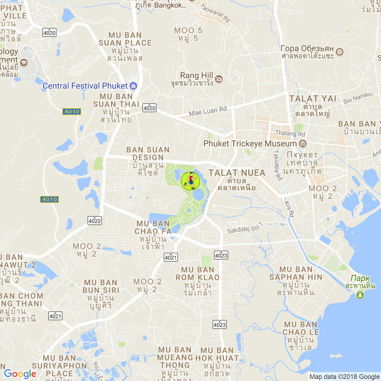 Парк Рамы Девятого / King Rama IX Park на карте Пхукета
