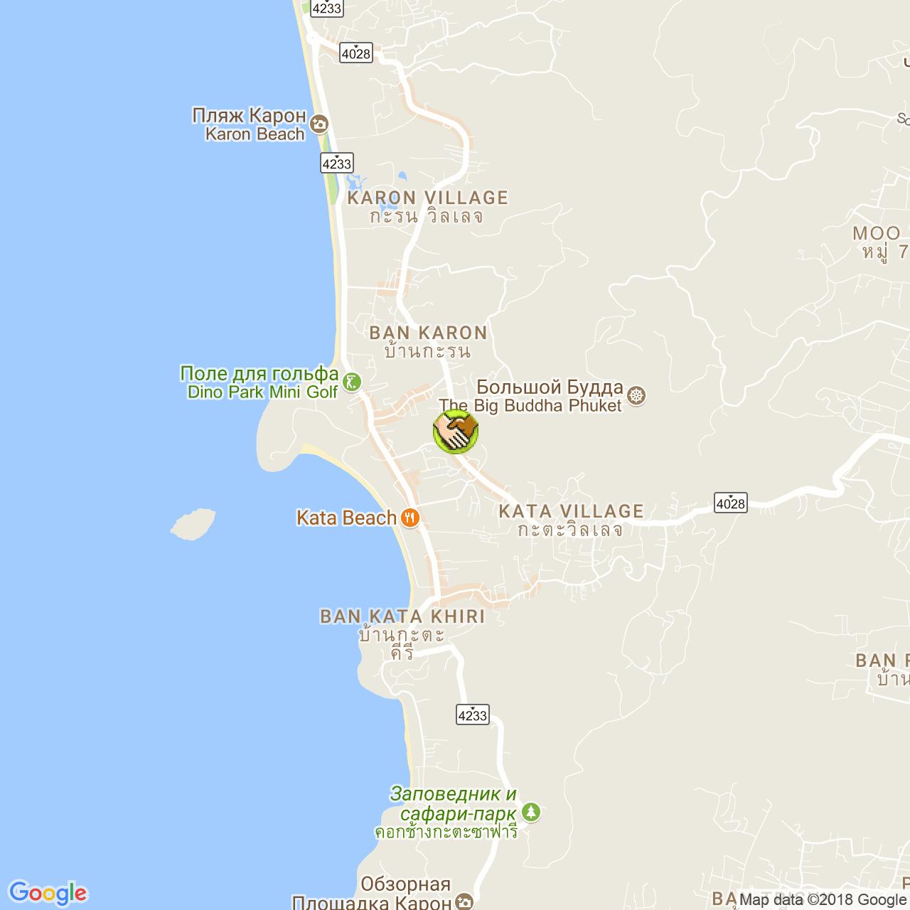 Kodak Express Kata (Patak Road) на карте Пхукета