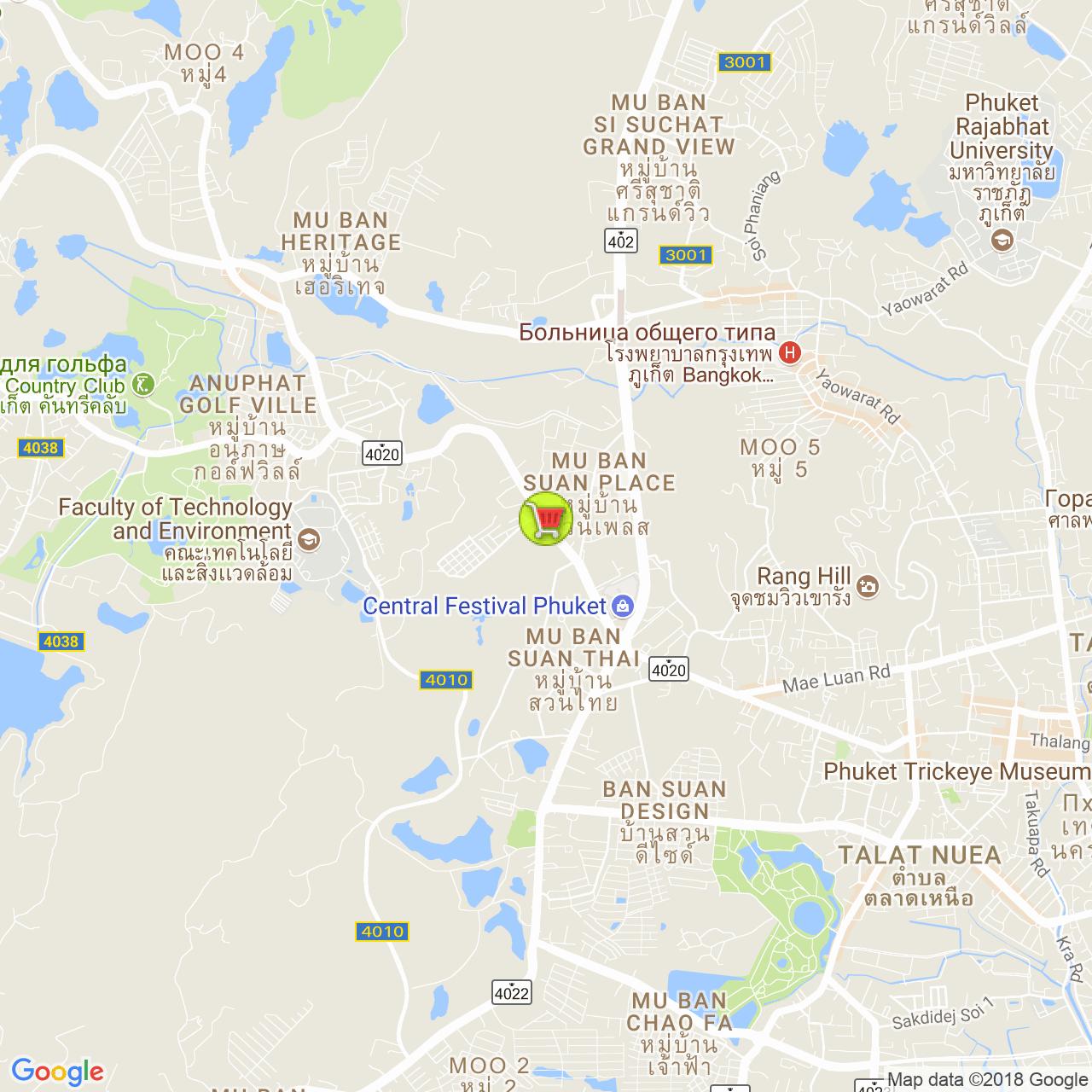 Макро @ Центр на карте Пхукета