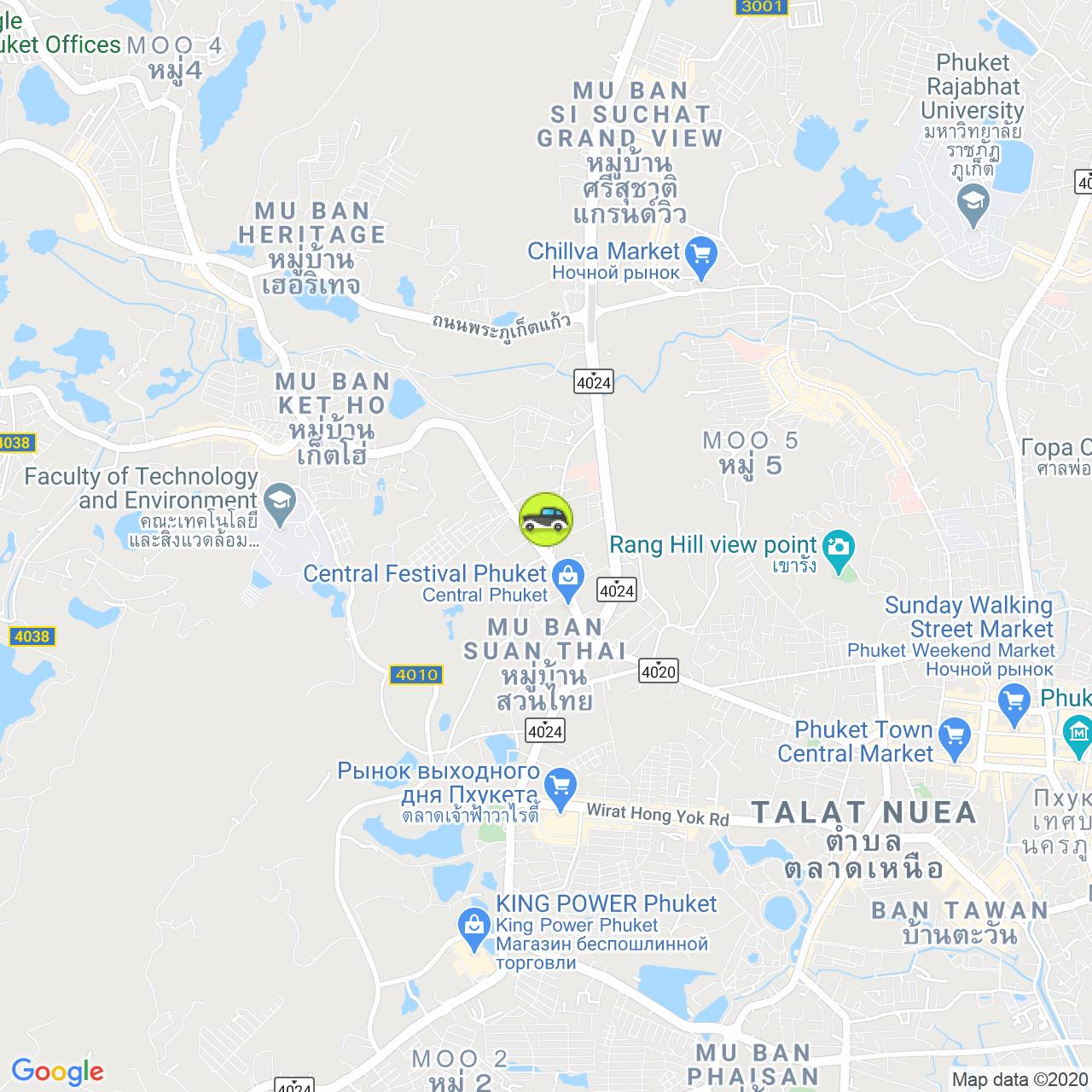 Easy Rent Phuket co.ltd на карте Пхукета