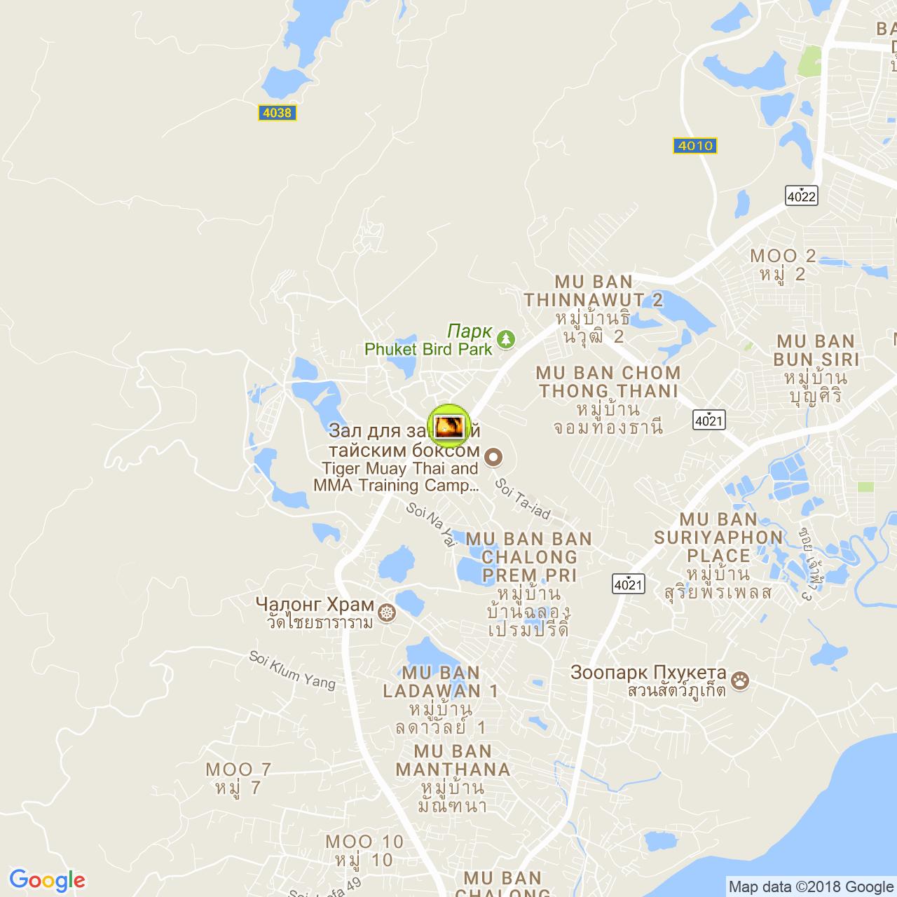 Кладбище телефонных будок на карте Пхукета