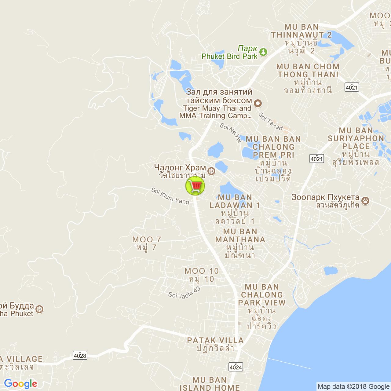 Super Cheap Chao Fa West на карте Пхукета