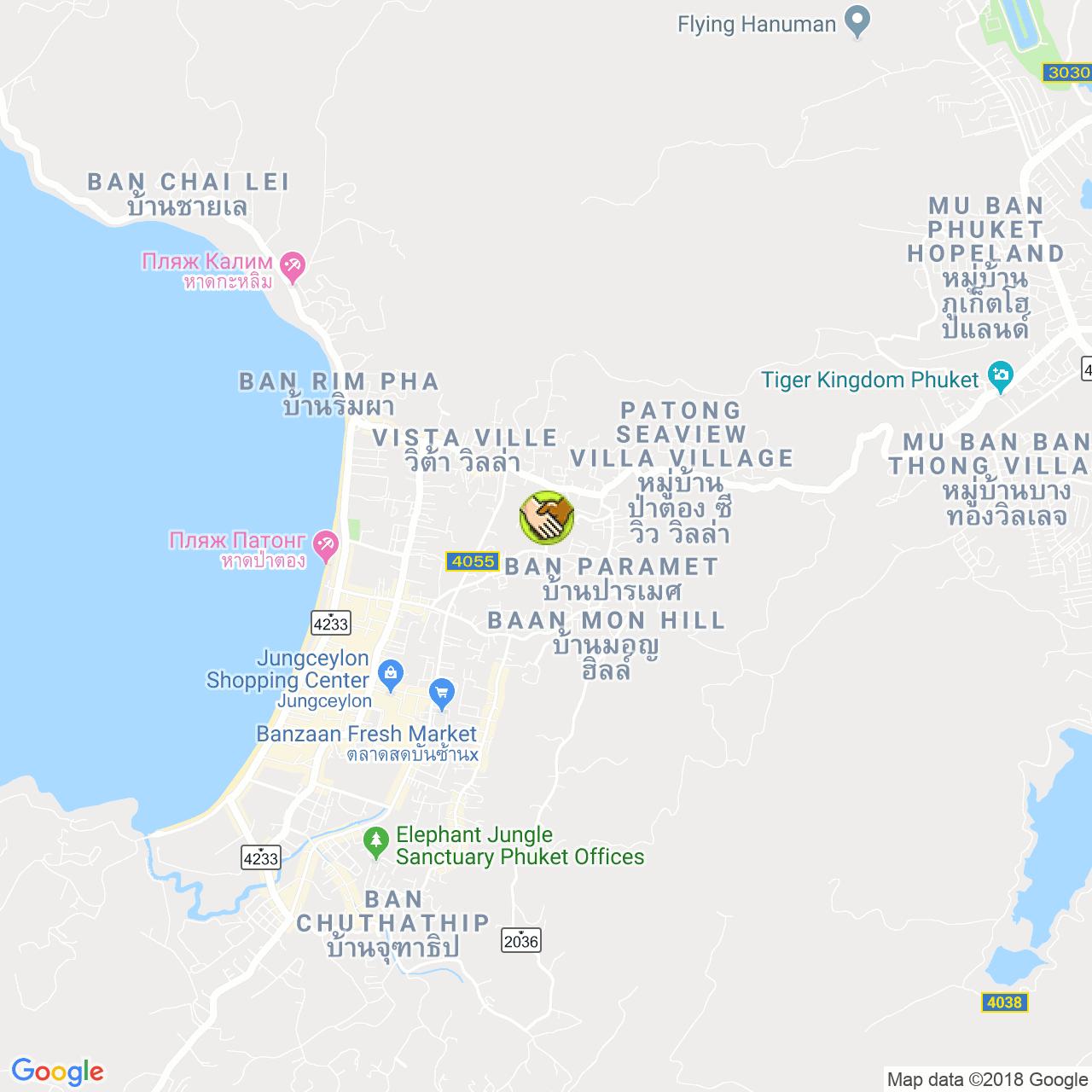 Массаж слепых на карте Пхукета