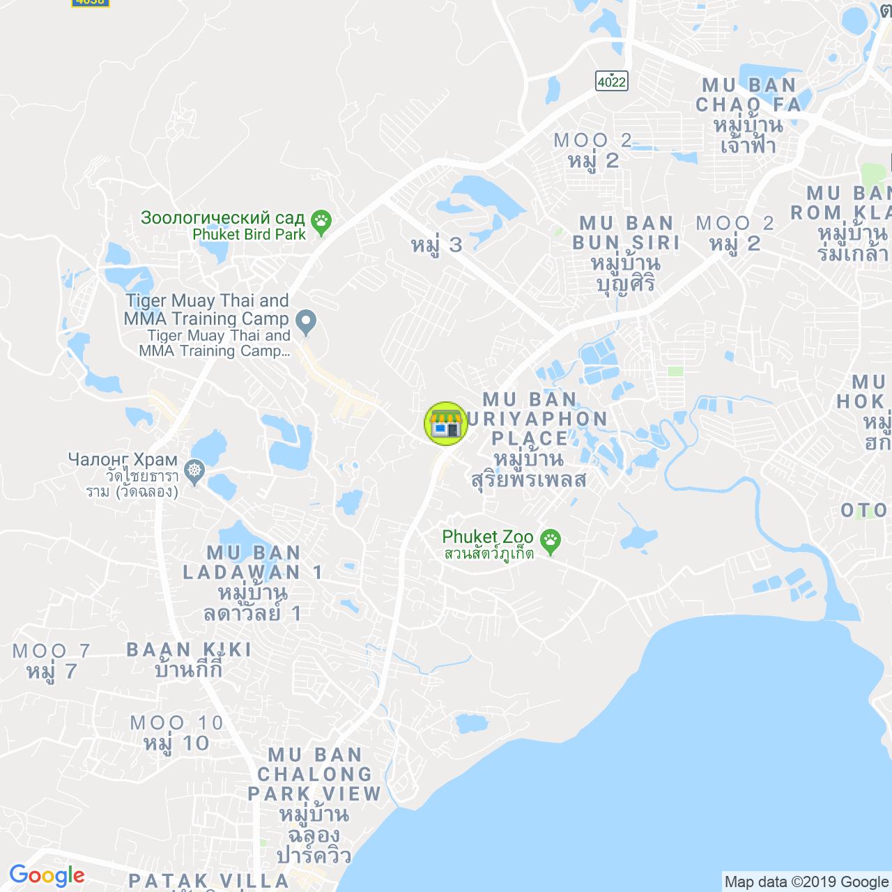 Phuket Health Shop Chalong на карте Пхукета