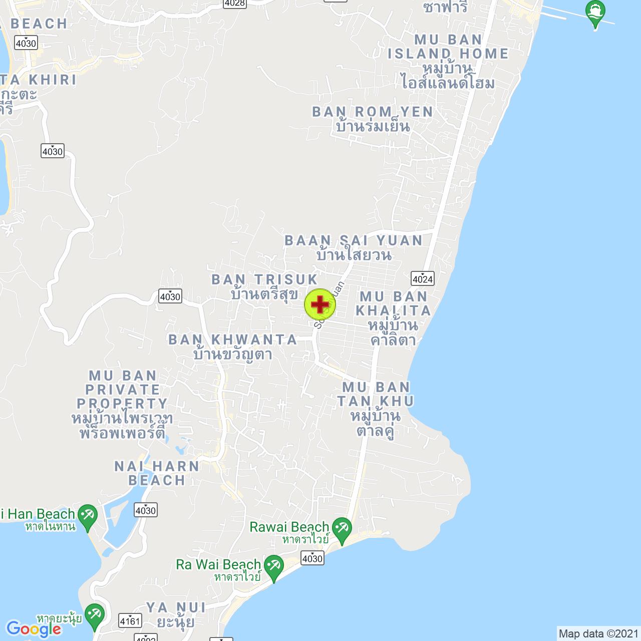Saiyuan Medical Clinic на карте Пхукета