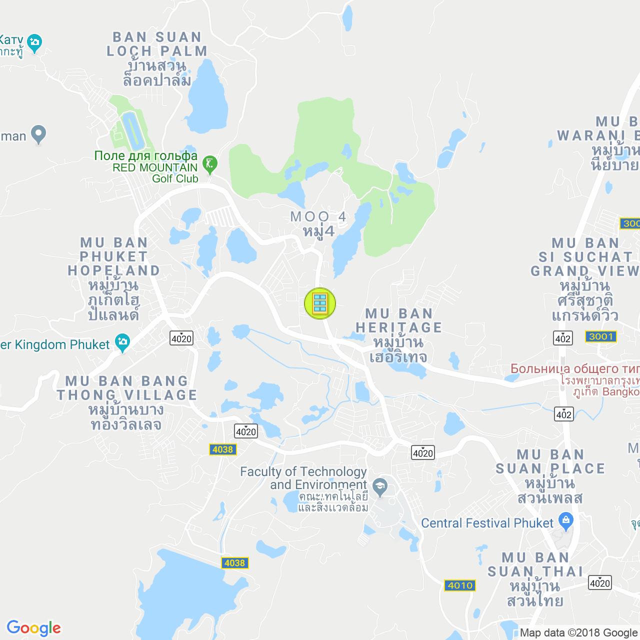 Dcondo Creek на карте Пхукета