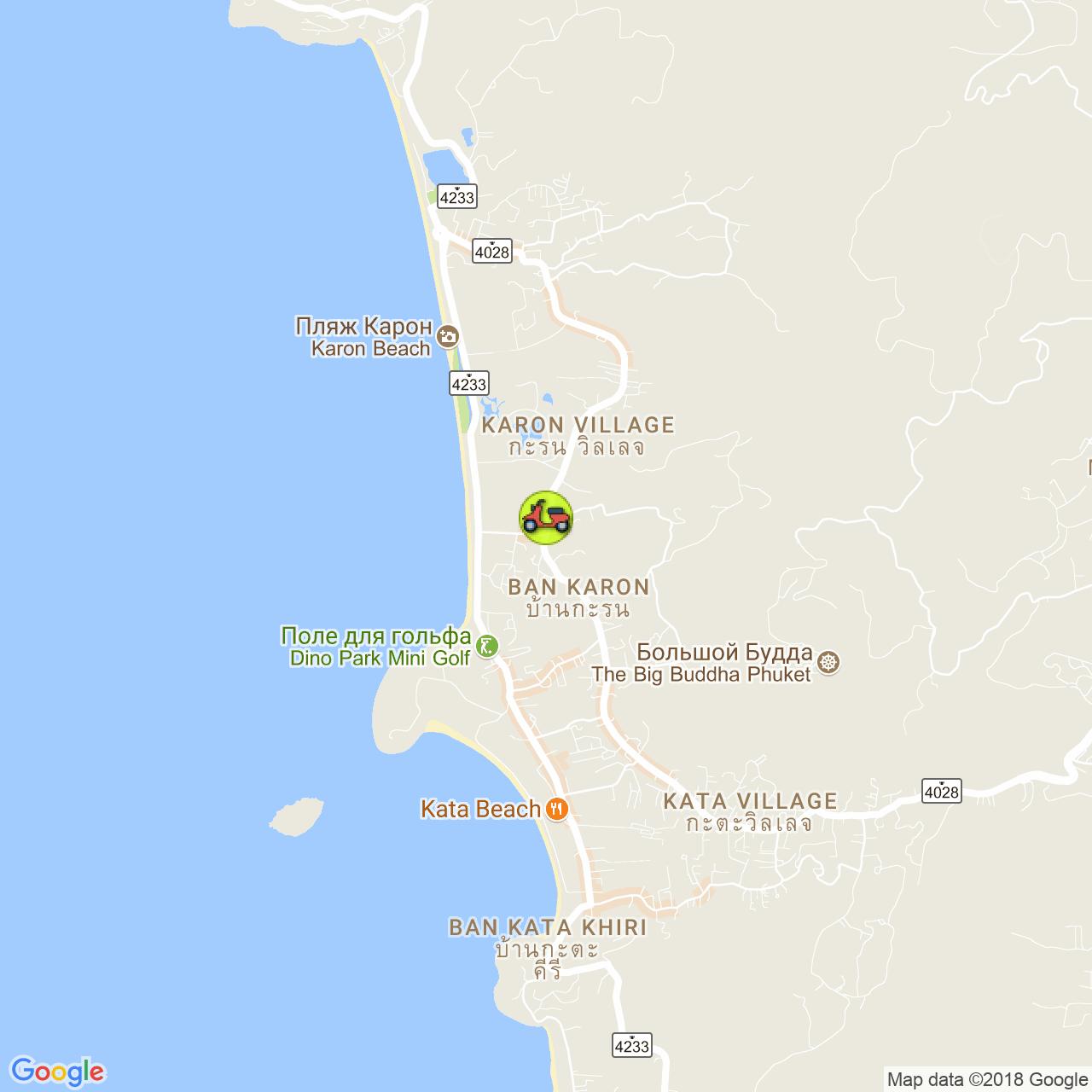 Bangon Motorbike Rent на карте Пхукета