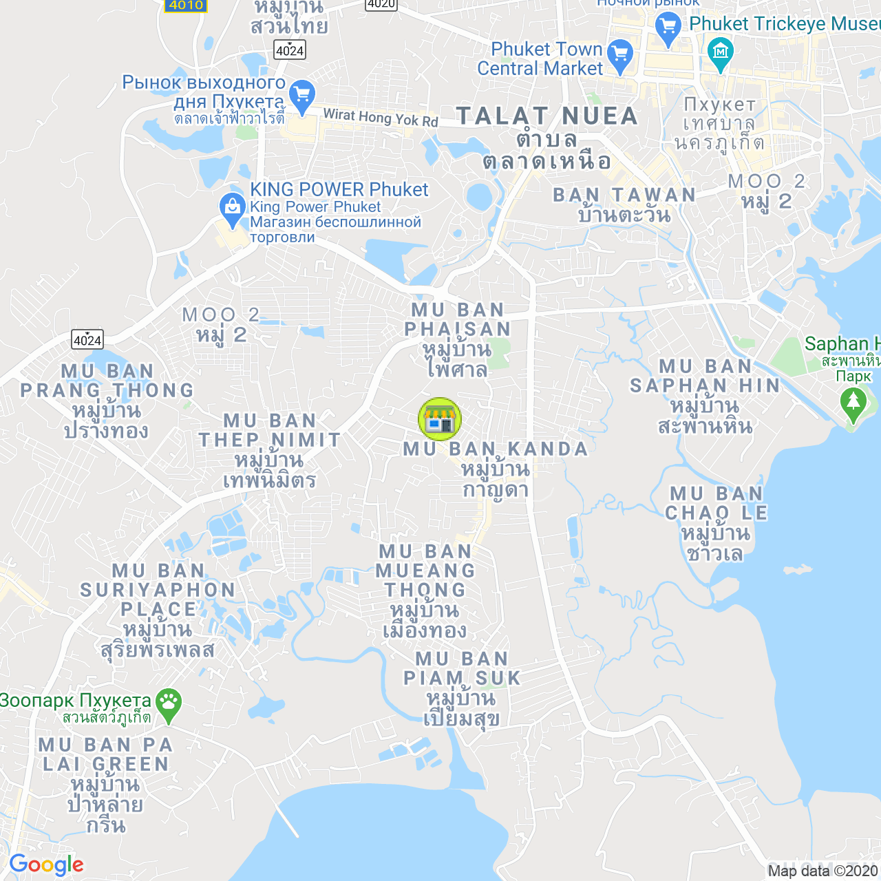 Shadow Fishing Club & Shop на карте Пхукета