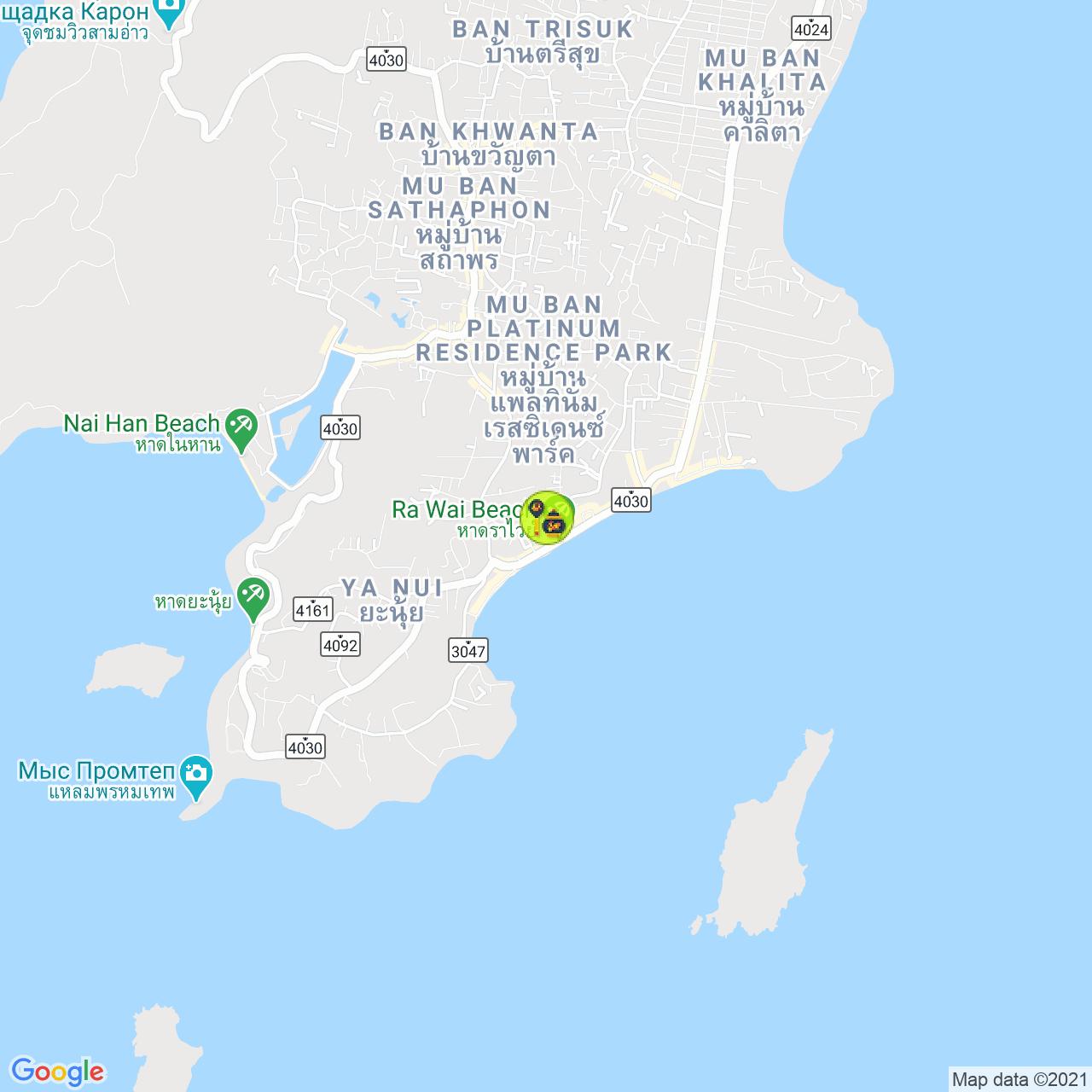 Alenka Phuket на карте Пхукета