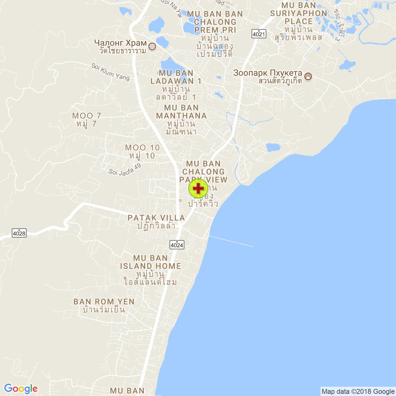 Chao Fah Pet Hospital на карте Пхукета
