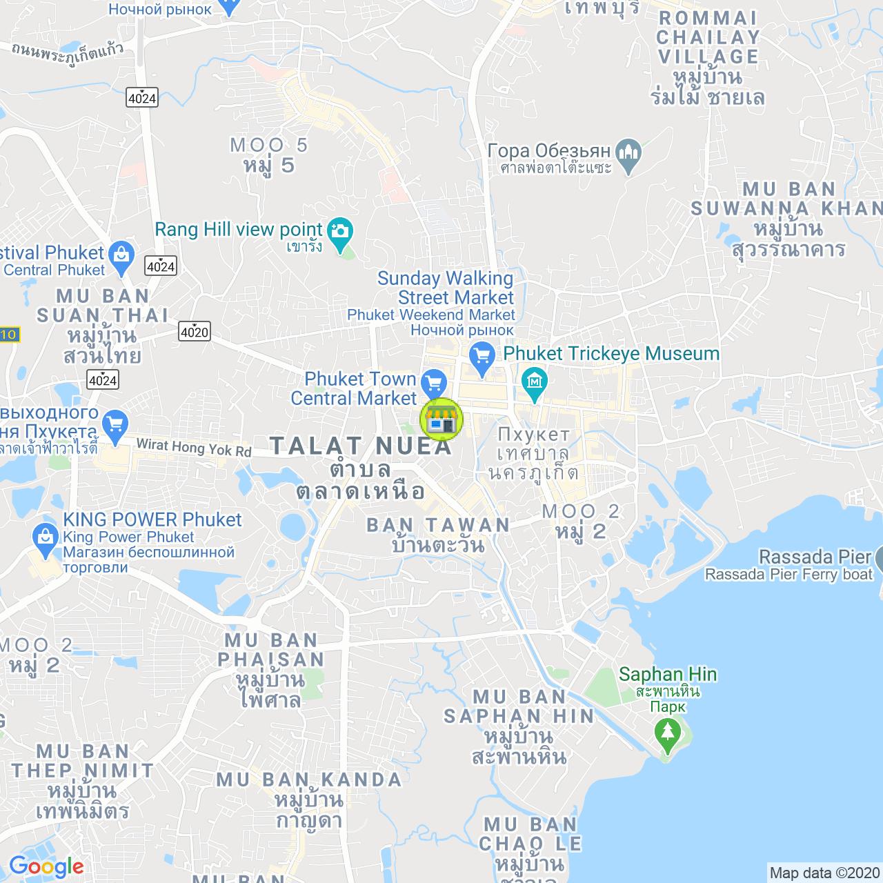 Gerbera House на карте Пхукета