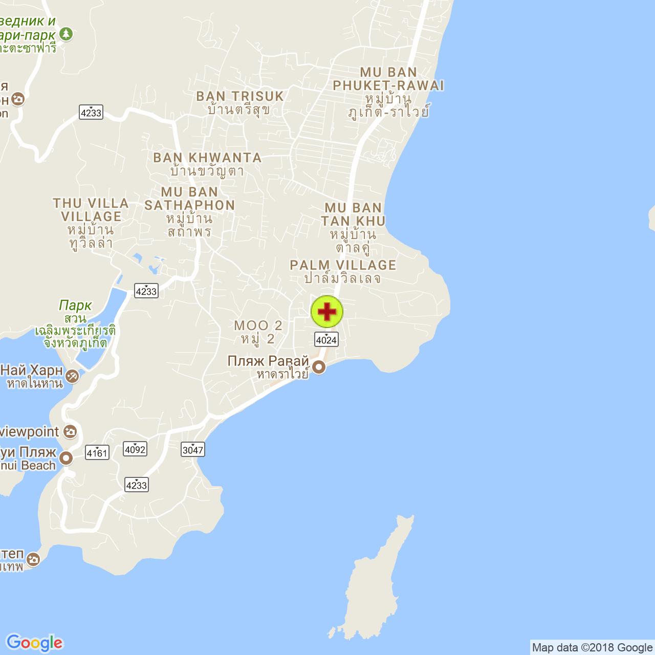 Клиника Андаман (Andaman Clinic) на карте Пхукета