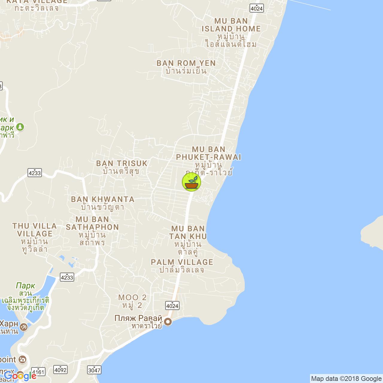 Raw cafe на карте Пхукета