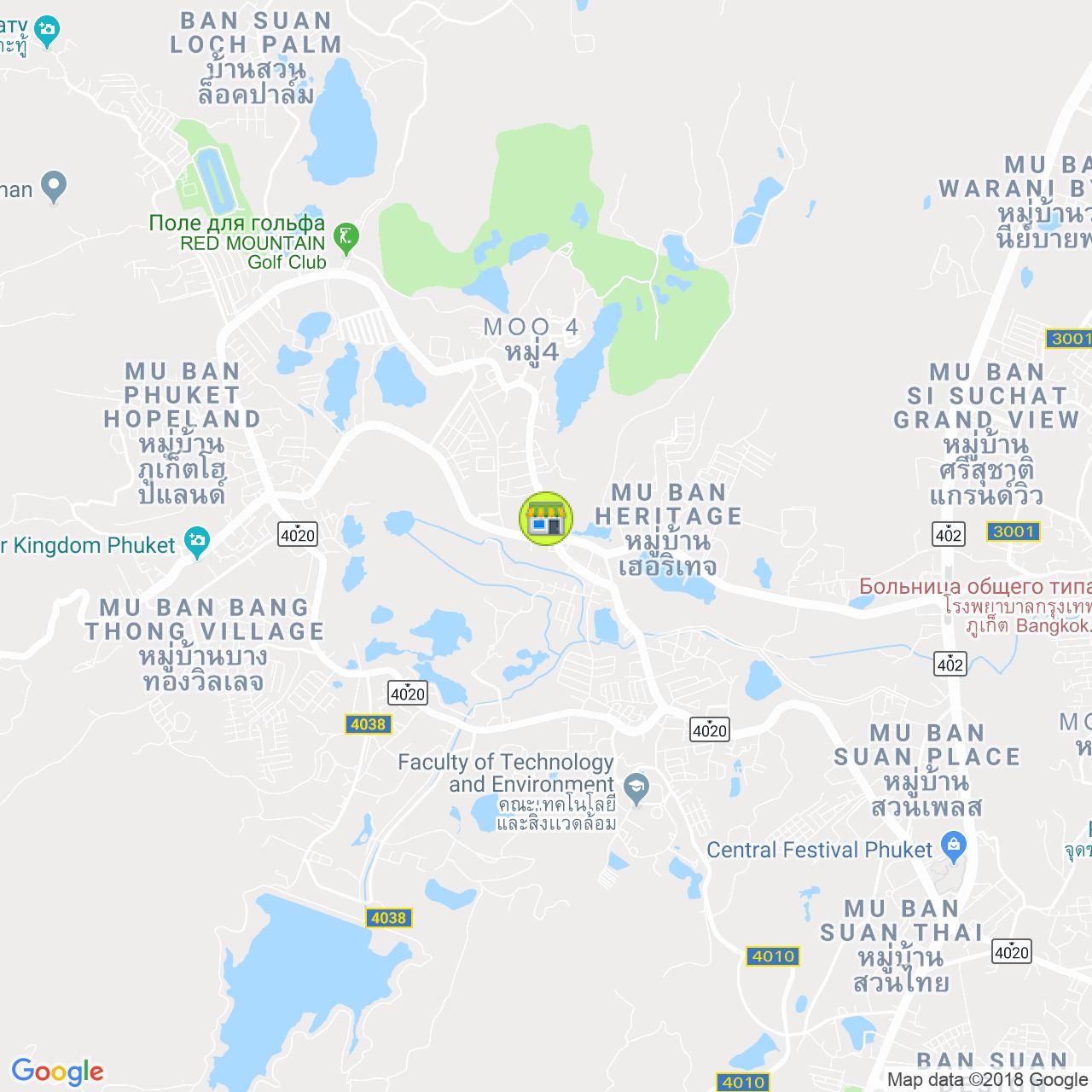 Богатый дом и декор на карте Пхукета