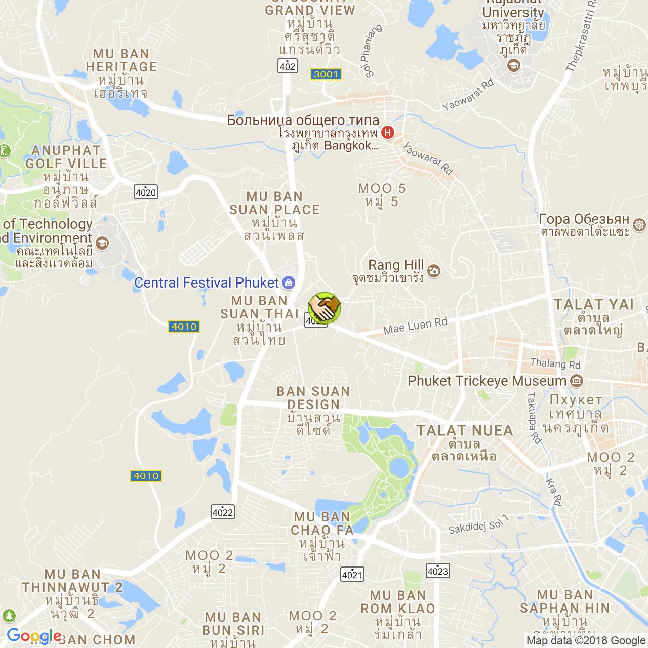 Phuket Balloon на карте Пхукета