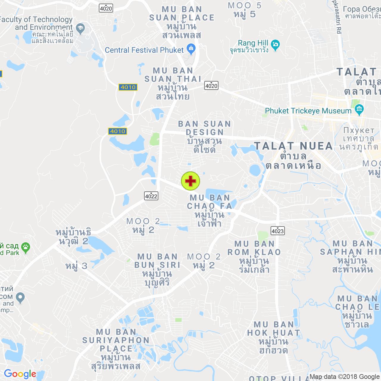 Charoenkarn dental clinic на карте Пхукета