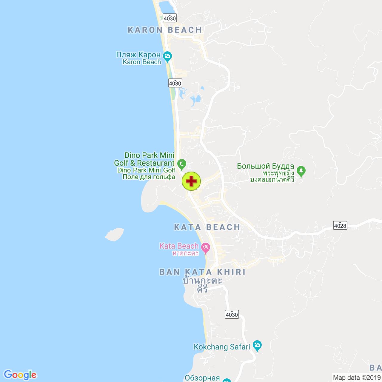 Sai nam yen international clinic @ Kata на карте Пхукета