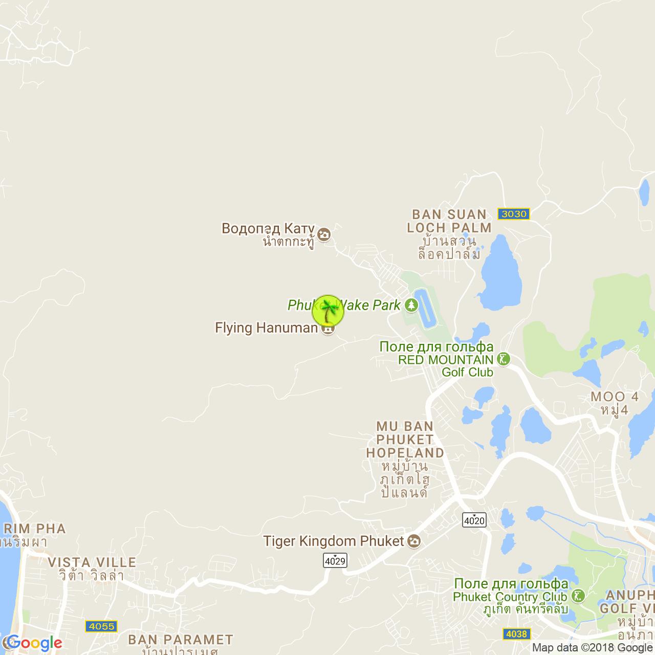 Flying Hanuman на карте Пхукета