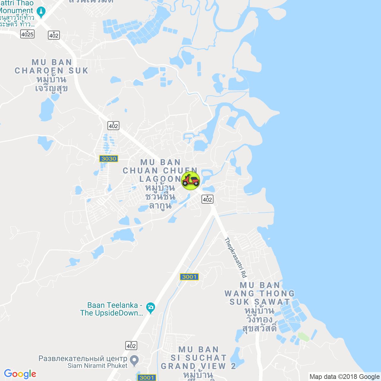 Sabai electric bike электробайки на карте Пхукета