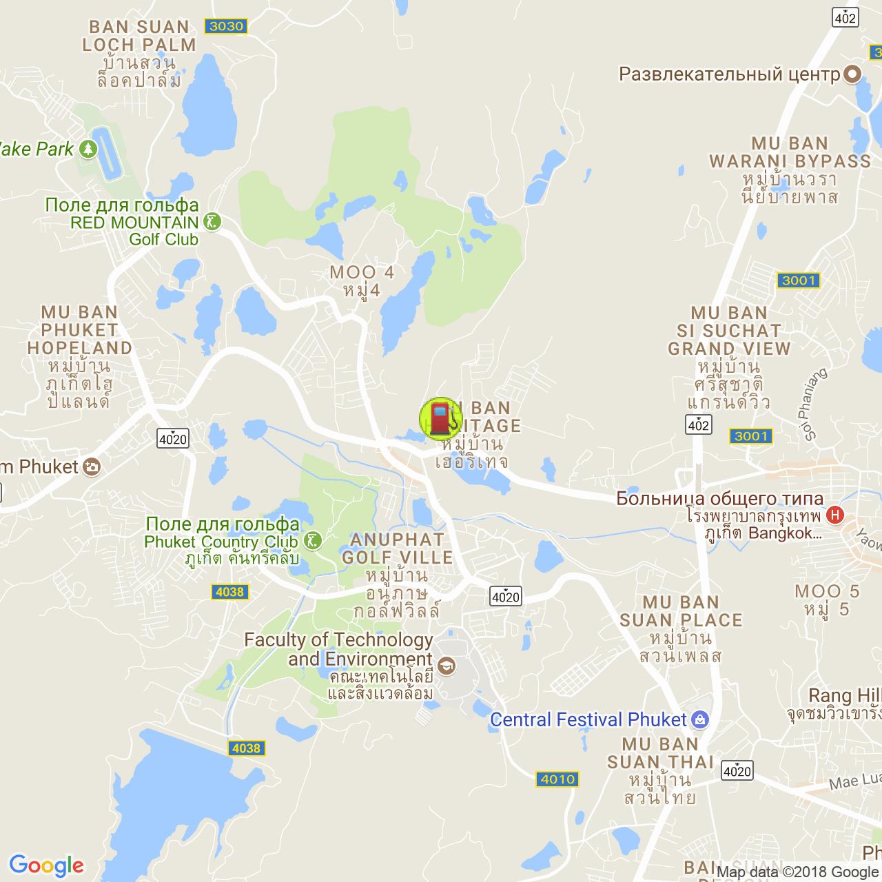 Заправка Shell @ Кату на карте Пхукета