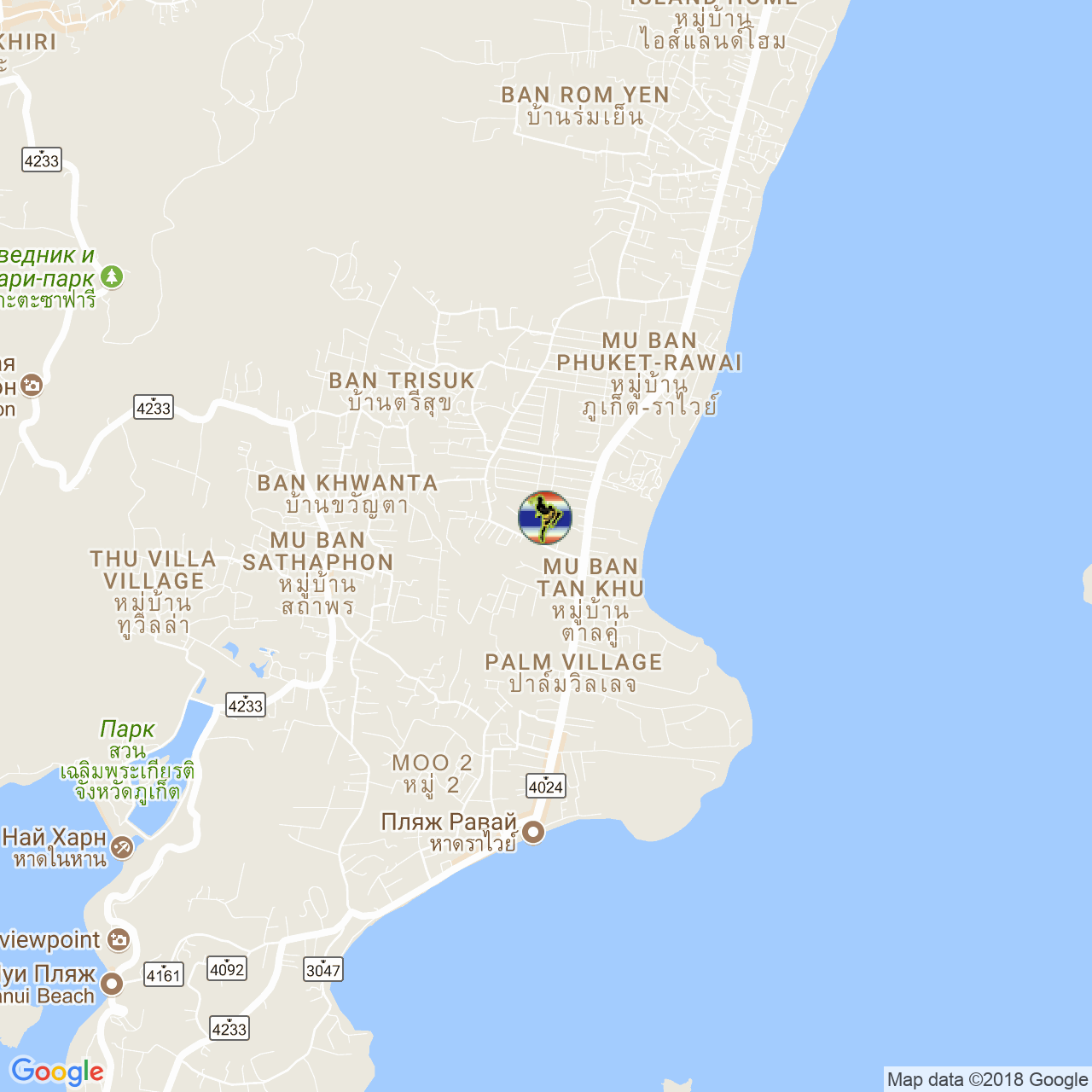 Тренировочный лагерь Kingka Supa Muay Thai на карте Пхукета