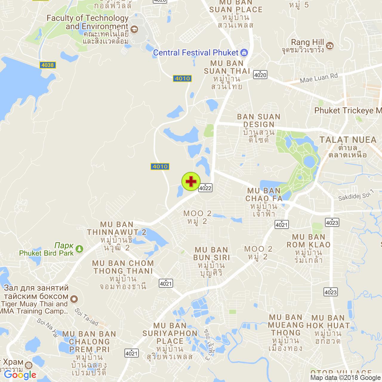 Госпиталь Dibuk на карте Пхукета