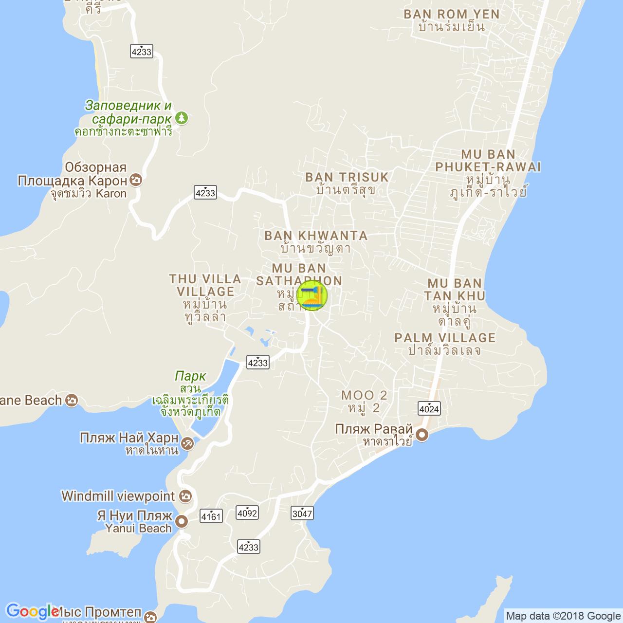 Green Tamarind Kitchen на карте Пхукета