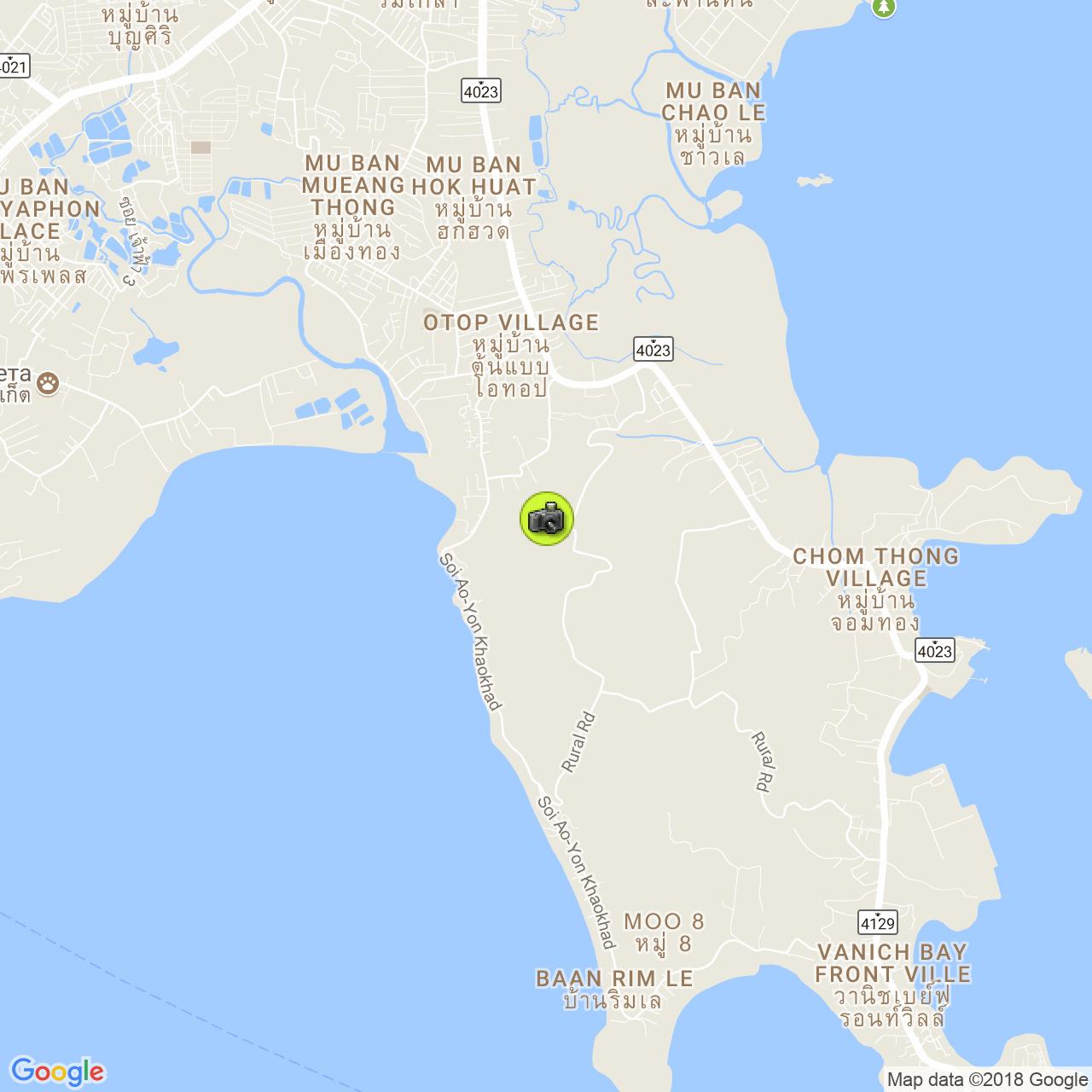 Смотровая площадка Khao Khad View Tower на карте Пхукета