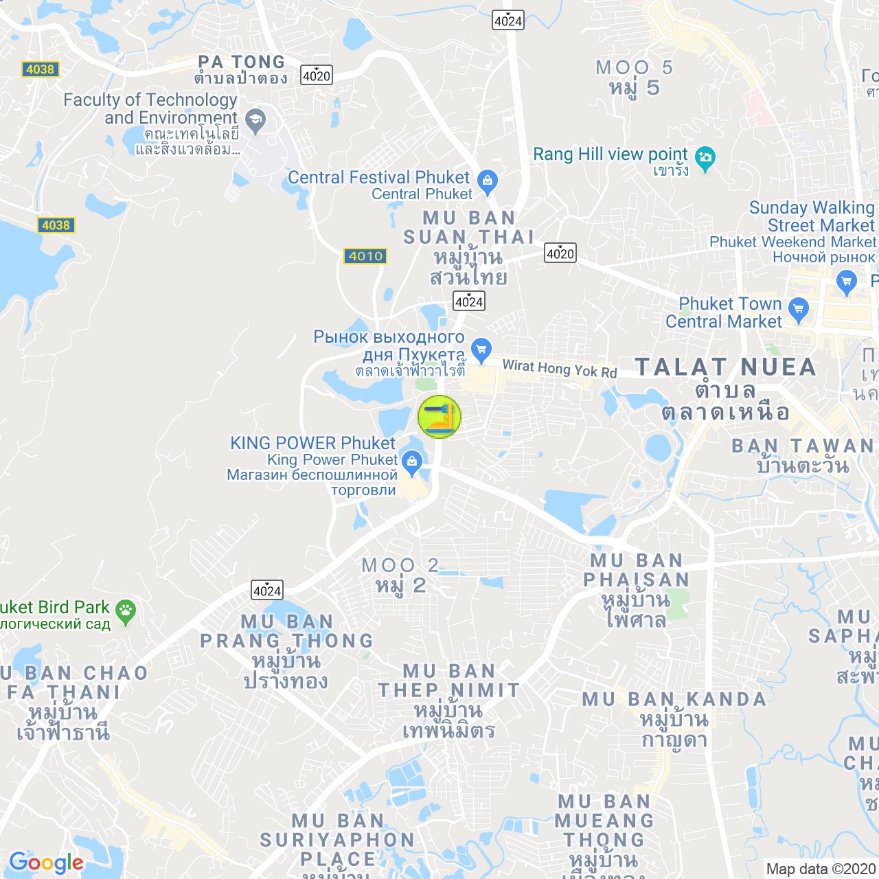 Bukit Cuppa Cafe на карте Пхукета