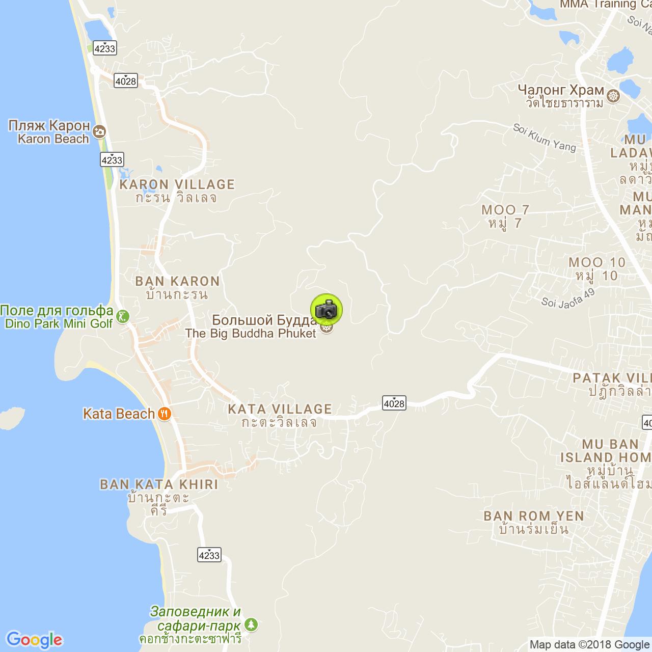 Большой Будда на карте Пхукета