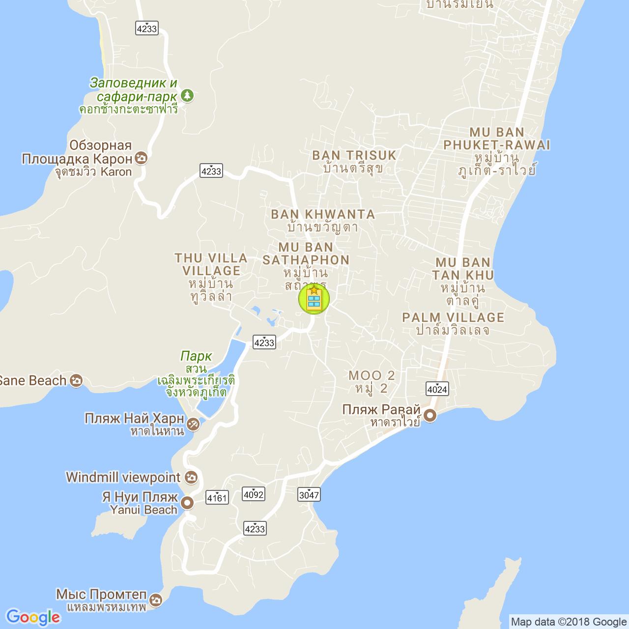 Huga Place на карте Пхукета