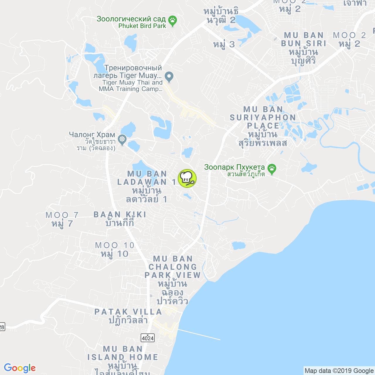 Chao doi на карте Пхукета